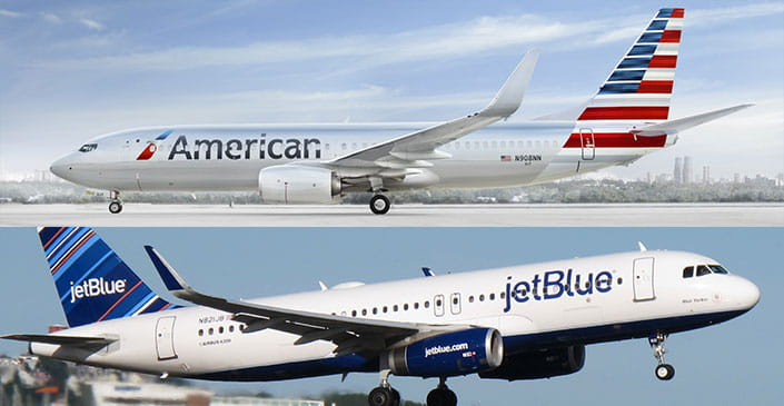 New JetBlue, American Codesharing to Begin Next Week